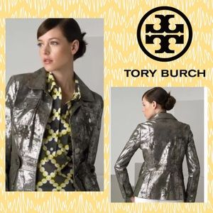 Tory Burch Sgt Pepper Silver Leather Jacket 2